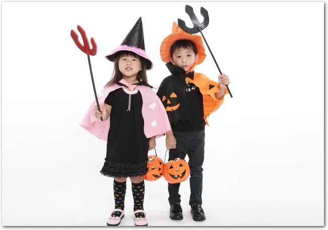 ハロウィンの仮装!子供の衣装が100均で安く簡単に手作り出来る