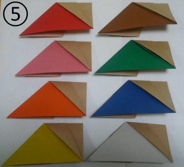 花菖蒲リースの折り紙の作り方5