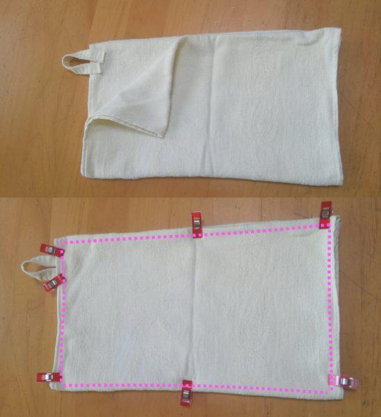タオル1枚で縫う基本の雑巾 作り方⑨