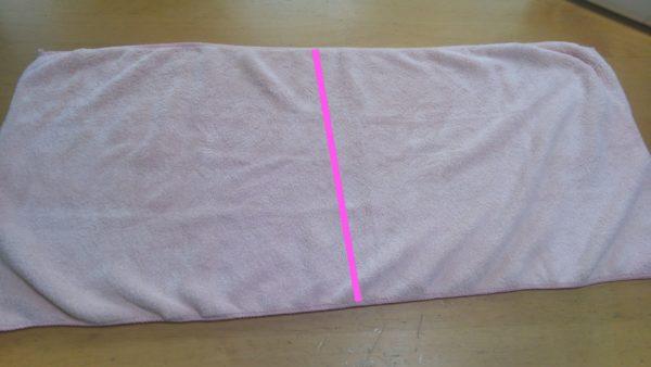 タオル半分で縫う簡単な雑巾の作り方①