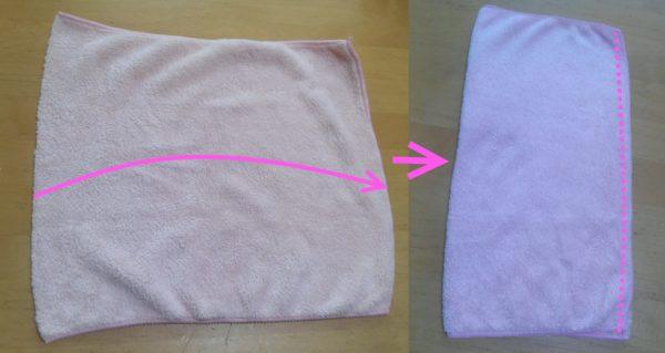 タオル半分で縫う簡単な雑巾の作り方②