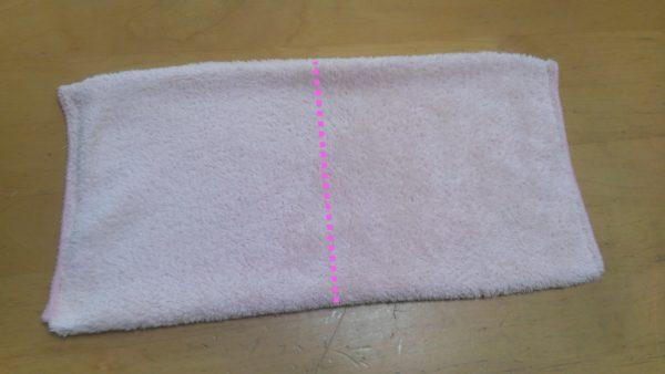 タオル半分で縫う簡単な雑巾の作り方⑥