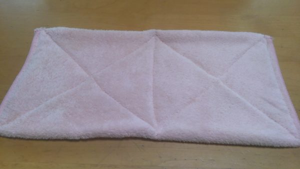 タオル半分で縫う簡単な雑巾の作り方⑧
